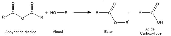 Alcool Acide carboxylique Anhydride d'acide Ester